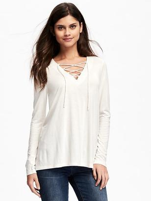 Lace-Up Swing Top for Women $26.94 thestylecure.com