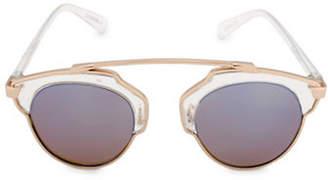 Steve Madden 48mm Mod Round Sunglasses