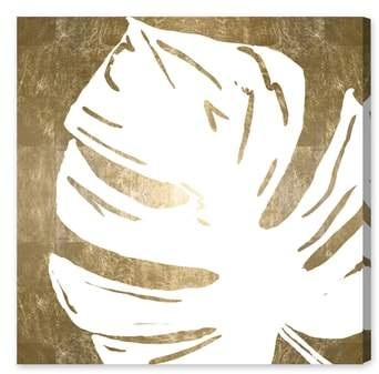 Tropical Leaves Square III Canvas Wall Art