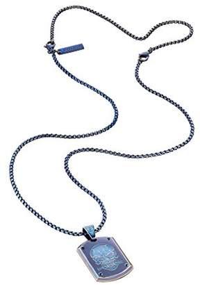 Police Men's Prowler Necklace of Length 70cm 25607PSEBL-SKULL