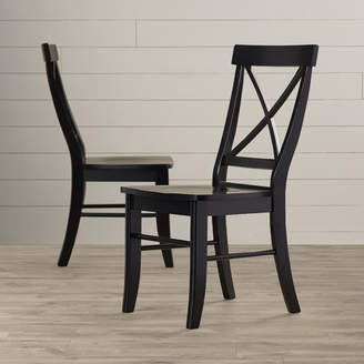 August Grove Sawyer Cross Back Solid Wood Dining Chair