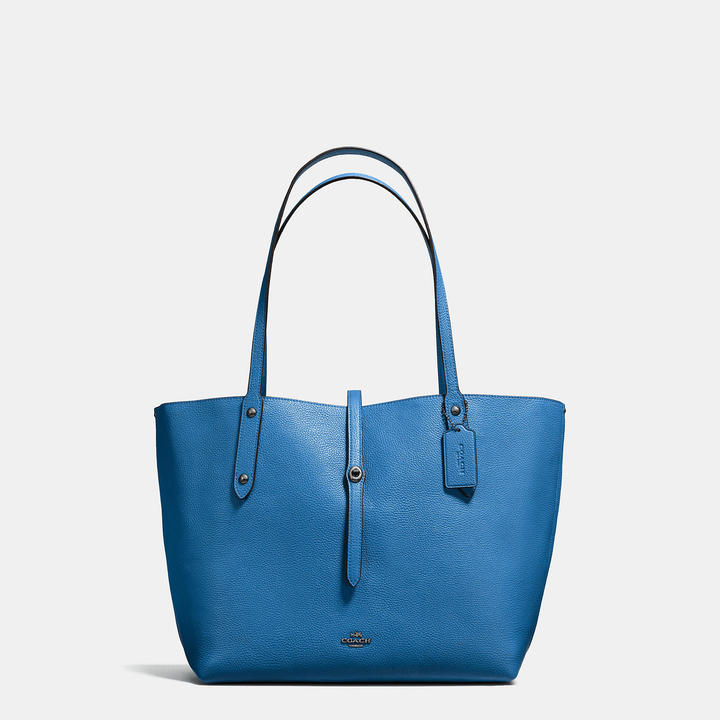 Coach  COACH Coach Market Tote In Printed Pebble Leather