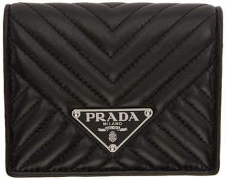 Prada Black Quilted Bifold Wallet