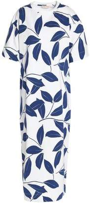 Marni Printed Cotton-Jersey Midi Dress