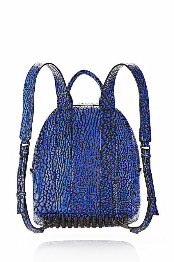 Alexander Wang Dumbo Backpack In Contrast Tip Nile