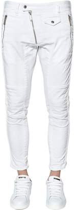 DSQUARED2 16.5cm Zip Cotton Denim Biker Pants