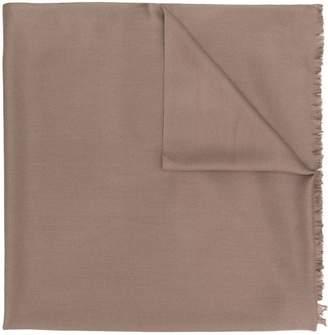 N.Peal fringed-hem shawl scarf