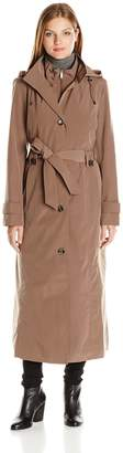 "London Fog Women's 49"" Long S/B Rain W/ Bib"