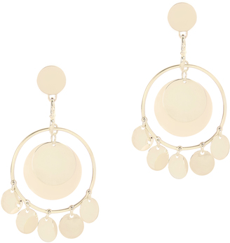 Eddie Borgo Coin Disc Statement Earrings Gold 1SIZE