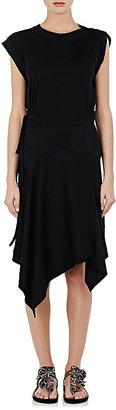Isabel Marant Women's Loko Cotton Jersey Wrap Dress $515 thestylecure.com