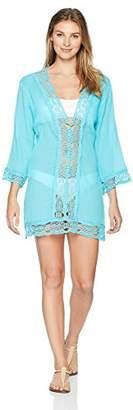 LaBlanca La Blanca Women's Lace V-Neck Tunic Dress
