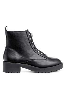 H&M Ankle Boots with Zip - Black - Women