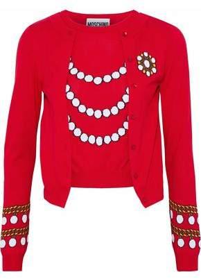 Moschino Layered Intarsia Cotton Sweater