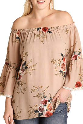 Umgee USA Brown Floral Top