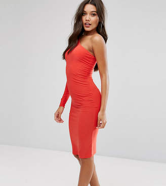 Club L One Shoulder Slinky Midi Dress