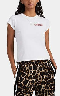 """Monogram Women's """"All I Ever Wanted"""" Cotton Crop T-Shirt - White"""
