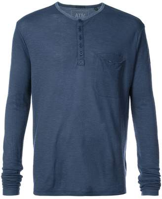 ATM Anthony Thomas Melillo half button placket shirt