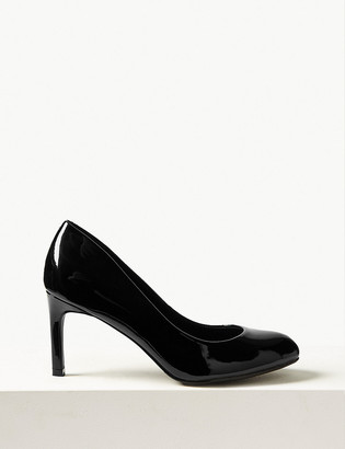 Marks and Spencer Wide Fit Almond Toe Court Shoes