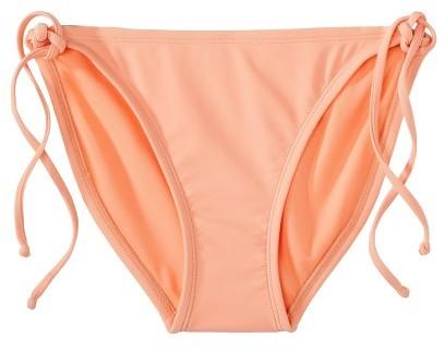 Xhilaration Junior's Mix and Match Side Tie Swim Bottom -Creamsicle