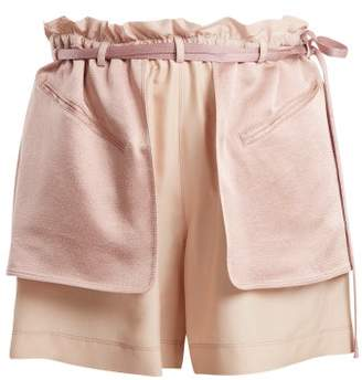 Valentino Contrast Pocket Elasticated Waist Shorts - Womens - Pink Multi