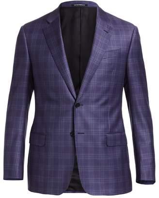 Emporio Armani Plaid G Line Wool Sport Coat