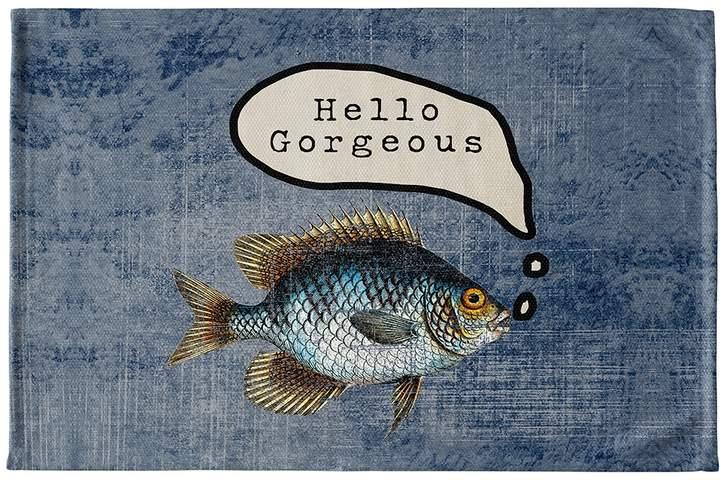 Kavka Designs Fish Hello Gorgeous Bath Mat