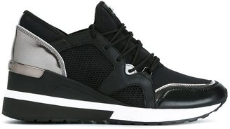 Michael Michael Kors wedge mid-top sneakers $168.43 thestylecure.com