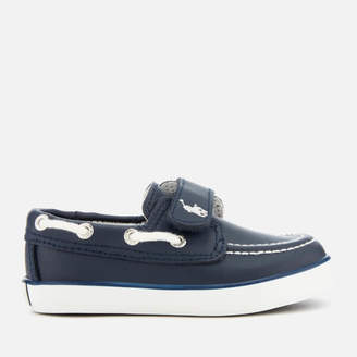 Polo Ralph Lauren Toddlers' Sander EZ Leather Boat Shoes - Navy/White