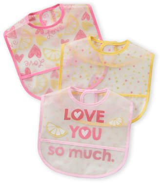 Baby Essentials Chick Pea (Newborn Girls) 3-Pack Lemon Love Baby Bibs