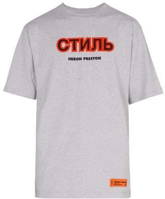 Heron Preston - Cotton T Shirt - Mens - Grey