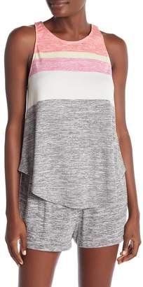 Kensie Stripe Print Knit Pajama Tank