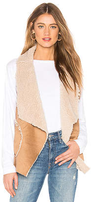 BB Dakota Easily Suede Faux Fur Vest