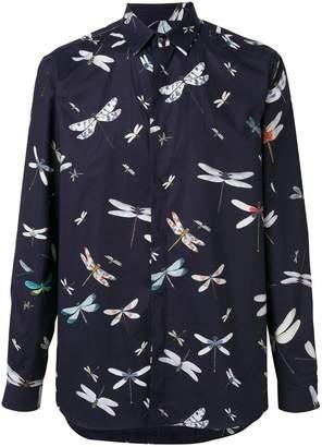 Valentino dragonfly print shirt
