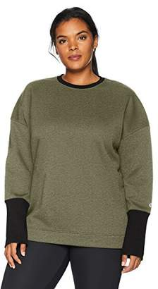 Core 10 Amazon Brand Women's Plus Size Motion Tech Fleece Relaxed Fit Long Sleeve Crew Sweatshirt,(22W-24W)