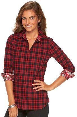 Women's Chaps No Iron Shirt $60 thestylecure.com