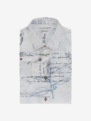 Alexander McQueen Explorer Print Fitted Shirt
