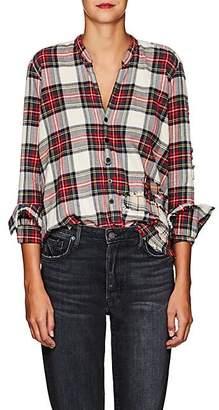 Greg Lauren Women's Christian Plaid Cotton Studio Shirt - Red
