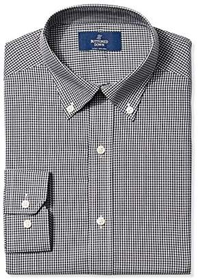 Buttoned Down Men's Fitted Spread Collar Pattern