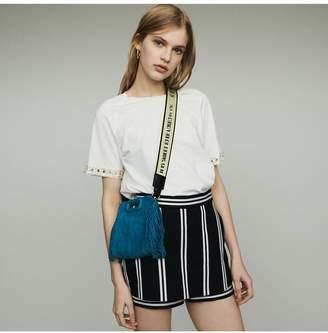 Maje Layered Striped Shorts