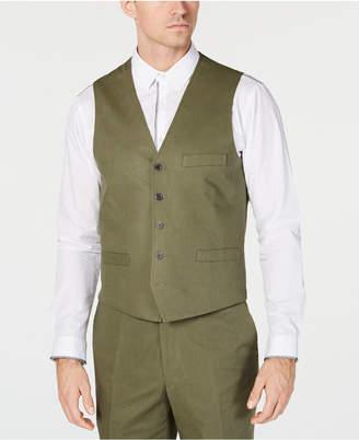 INC International Concepts I.n.c. Men Linen Blend Vest