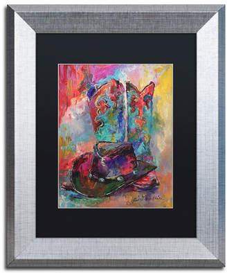 """Richard Wallich 'Art Boots' Matted Framed Art - 11"""" x 14"""""""