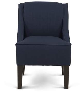 Mainstays Slight Arm Swoop Chair with Wood Legs, Midnight