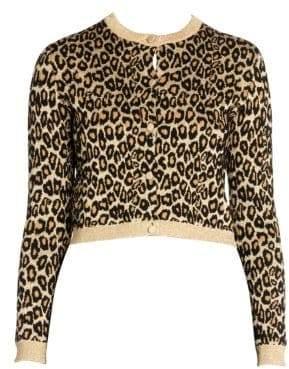 Miu Miu Lurex Leopard Print Cardigan