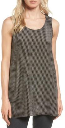 Women's Eileen Fisher Print Silk Sleeveless Shell $178 thestylecure.com
