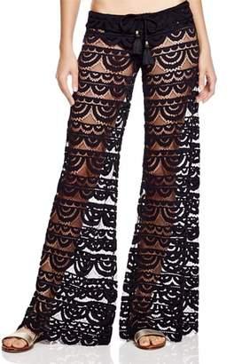 PilyQ Malibu Lace Pants $164 thestylecure.com