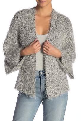Do Everything in Love Metallic Eyelash Knit Kimono