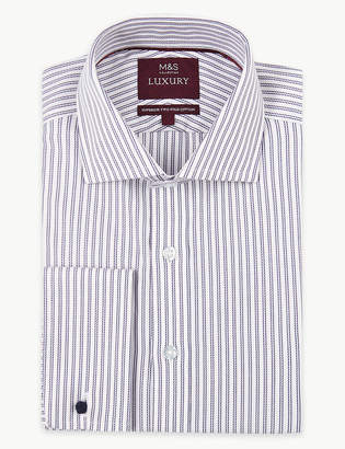 Marks and Spencer Pure Cotton Slim Fit Oxford Shirt