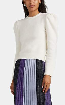 Derek Lam 10 Crosby Women's Alpaca-Blend Puff-Sleeve Sweater - White
