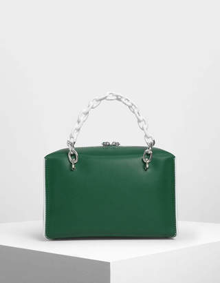 Charles & Keith Double Chain Handle Bag