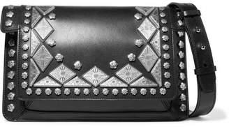 Isabel Marant Maskia Embellished Leather Shoulder Bag - Black